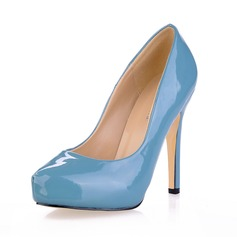 Vrouwen Patent Leather Stiletto Heel Pumps Plateau Closed Toe schoenen (085020561)