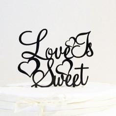 Brief de liefde is zoet Acryl Huwelijk Taarttoppers/Vrijgezellenfeest Taarttoppers (119063253)
