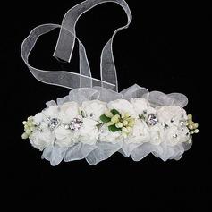 прекрасный Тюль/Бумага Цветы и перья с горный хрусталь (042025232)