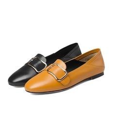 Kvinnor Äkta läder Flat Heel Platta Skor / Fritidsskor Pumps med Spänne skor (086116260)