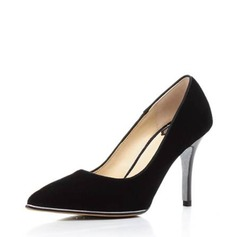 Frauen Veloursleder Stöckel Absatz Absatzschuhe Geschlossene Zehe mit Andere Schuhe (085146831)