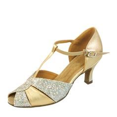 Femmes Similicuir Pailletes scintillantes Latin Chaussures de danse (053137756)