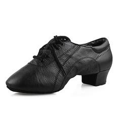 Мужская Натуральня кожа На плокой подошве Практика Обувь для танцев (053013126)