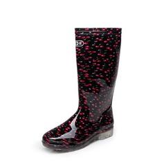 Женщины PVC Низкий каблук Ботинки Сапоги до колен Резиновые сапоги с Другие обувь (088138756)