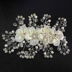 Kuumin Kristalli/Keinotekoinen silkki Kukkia ja höyhenet (042055987)