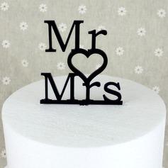Brief Mr & Mrs Acryl Huwelijk Taarttoppers/Vrijgezellenfeest Taarttoppers (119063258)
