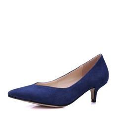 Frauen Veloursleder Kätzchen Absatz Absatzschuhe Geschlossene Zehe mit Andere Schuhe (085146828)