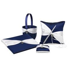 Bow Guestbook/Pen Set/Ring Pillow/flower basket (101165510)
