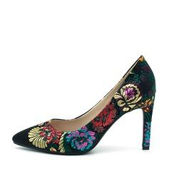 Frauen Stoff Stöckel Absatz Absatzschuhe Geschlossene Zehe mit Applikationen Schuhe (085145462)