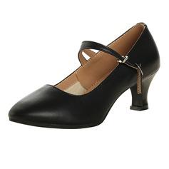 Vrouwen Echt leer Pumps Character Shoes met Enkelriempje Dansschoenen (053113228)