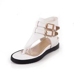 Konstläder Flat Heel Sandaler Platta Skor / Fritidsskor med Spänne skor (087048801)