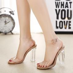 Kvinnor Stilettklack Sandaler Pumps Peep Toe med Smycken Heel skor (087120765)
