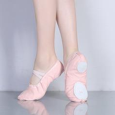 Vrouwen Zeildoek Flats Ballet Oefening Dansschoenen (053147419)