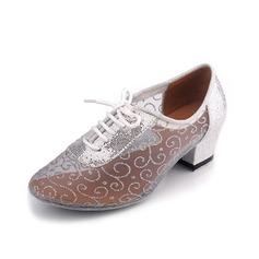 Женщины кожа На каблуках Практика Обувь для танцев (053057185)