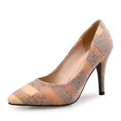 Женщины бархат Высокий тонкий каблук На каблуках с Атласный бант обувь (085105807)