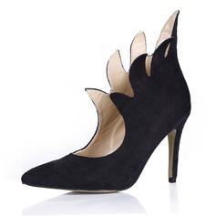 Женщины Замша Высокий тонкий каблук На каблуках Закрытый мыс обувь (085058231)
