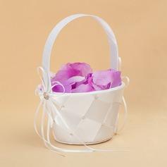 Elegante Cesta de flores en Satén con Cintas (102025560)