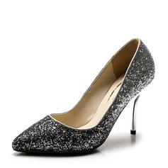 Женщины Мерцающая отделка Высокий тонкий каблук На каблуках Закрытый мыс с Другие обувь (085147461)