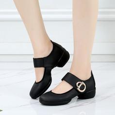 Женщины Натуральня кожа Танцевальные кроссовки Современный Обувь для танцев (053138891)