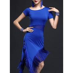 Женщины Одежда для танцев полиэстер Латино Платья (115112624)