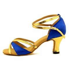 Femmes Satiné Similicuir Sandales Latin avec Ouvertes Chaussures de danse (053103010)