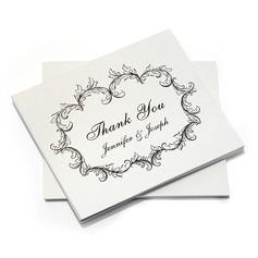Персонализированные художественный стиль Спасибо карты (набор из 10) (114054978)
