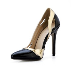 Vrouwen Patent Leather Stiletto Heel Pumps Closed Toe schoenen (085047286)