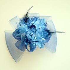Senhoras Bonito Fio rede/Flor de seda A testa de jóias/Chapéu (042143666)
