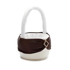 Beautiful Flower Basket in Satin With Rhinestones/Sash (102026349)