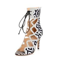 Mocka Stilettklack Sandaler Peep Toe skor (087050310)