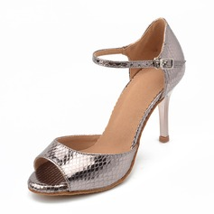 Femmes Similicuir Sandales Latin Chaussures de danse (053166342)