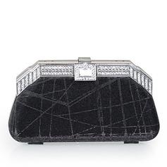 Charme Cristal / Strass/Lantejoulas com Metal Embreagens/Bolsa de Pulso (012032859)