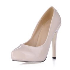 Vrouwen Patent Leather Stiletto Heel Closed Toe Plateau Pumps (047020487)