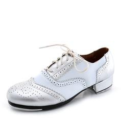 Мужская Кожа из микроволокна На плокой подошве Степ Обувь для танцев (053087772)