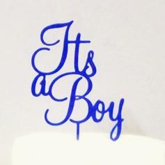 det er en gutt Akryl Baby Dusj Kake Topper (119063261)