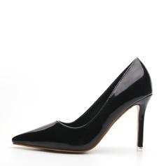 Frauen Lackleder Stöckel Absatz Absatzschuhe Geschlossene Zehe Schuhe (085145469)