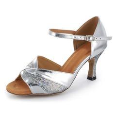 Donna Glitter scintillanti Pelle verniciata Tacchi Sandalo Latino Scarpe da ballo (053021499)