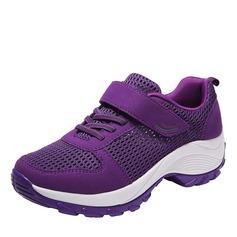 Mulheres couro malha com Velcro Ténis e Atletismo (247163316)