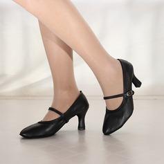 Женщины кожа На каблуках Современный Джаз Обувь для танцев (053166330)