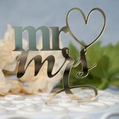 Сладкая любовь/Г-н & Mrs акрил Фигурки для торта (119156985)
