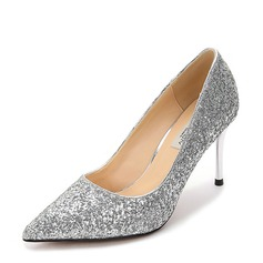 Women's Sparkling Glitter Stiletto Heel Pumps Closed Toe With Others shoes (085155262)