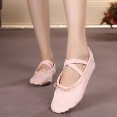 Женщины Холст На плокой подошве Балет Обувь для танцев (053104781)