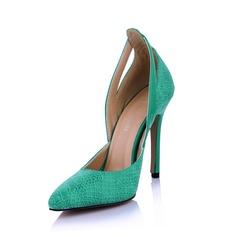Kunstleer Stiletto Heel Pumps Closed Toe met Dier Afdrukken schoenen (085029176)