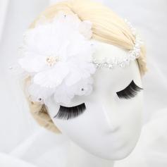 Красивая Тюль Цветы и перья (042062369)