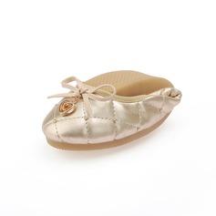 Kunstleder Flascher Absatz Flache Schuhe mit Des Bowknot Pailletten Schuhe (086059284)