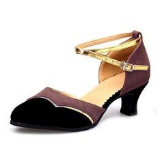 Femmes Suède Talons Escarpins Salle de bal avec Lanière de cheville Chaussures de danse (053065756)