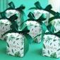 Tema Floral Bonito Cubi Papel cartão Caixas de Favores e Contêineres com Fitas (conjunto de 20) (050203426)