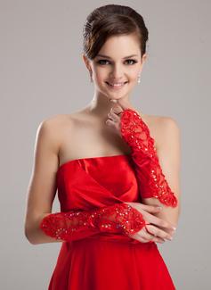 Satén elástico Codo Largo Guantes de novia/Guantes de niña de flores (014020467)