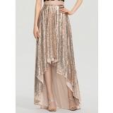 Corte A Asimétrico Con lentejuelas Vestido de baile de promoción (018199627)