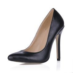 Cuero Tacón stilettos Salón Cerrados zapatos (085017506)
